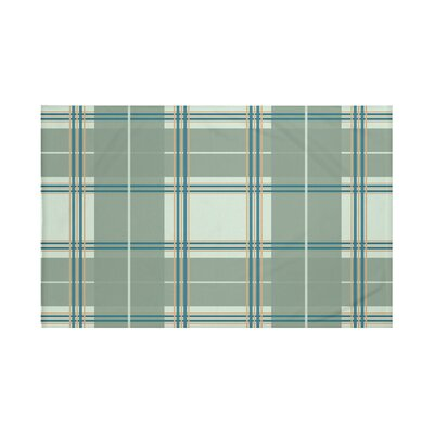 Burton Plaid Print Throw Blanket Size: 60 L x 50 W, Color: Herb Green (Green)