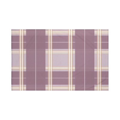 Burton Plaid Print Throw Blanket Size: 60 L x 50 W, Color: Bordeaux (Purple)