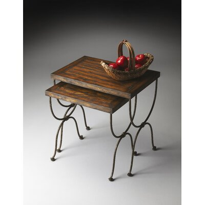 Black Raven 2 Piece Nesting Tables