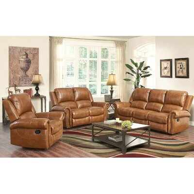 Bitter Root 3 Piece Leather Living Room Set