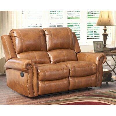 Bitter Root Leather Reclining Loveseat