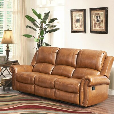 Darby Home Co DRBC6073 Bitter Root Leather Reclining Sofa