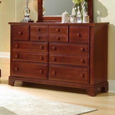 Cedar Drive 7 Drawer Dresser Color: Cherry