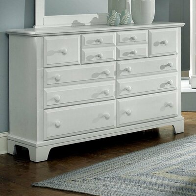 Cedar Drive 7 Drawer Dresser Finish: Snow White