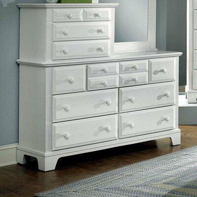 Cedar Drive 10 Drawer Dresser Color: Snow White