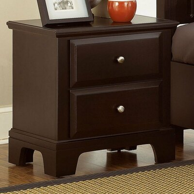 Cedar Drive 2 Drawer Nightstand Finish: Merlot