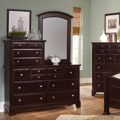 Cedar Drive 10 Drawer Dresser with Mirror