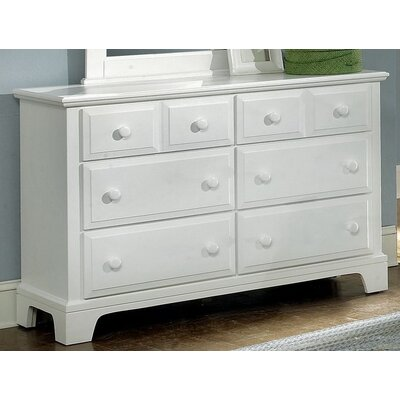 Cedar Drive 6 Drawer Dresser Color: Snow White