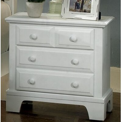 Cedar Drive 2 Drawer Nightstand Finish: Snow White