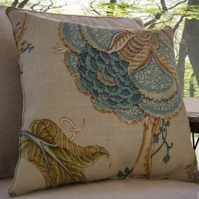 Gare Floral Linen Throw Pillow Size: 20 x 20