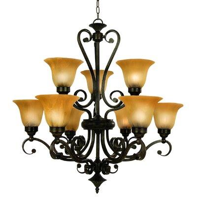 Perrysville 9-Light Shaded Chandelier
