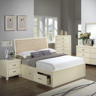 Acres Upholstered Storage Platform Bed Size: King, Finish: Beige