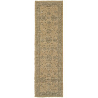 Cortes Oriental Gray Area Rug Rug Size: Runner 27 x 94