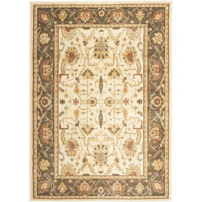 Blue Point Floral Creme/Brown Area Rug Rug Size: 8 x 11