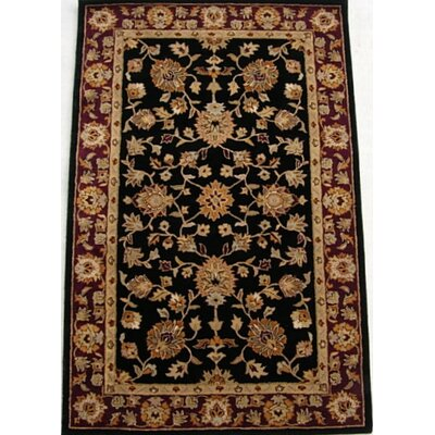 Meriden Black/Red Area Rug Rug Size: 46 x 66