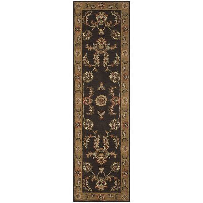 Meriden Brown/Gold Floral Area Rug Rug Size: Runner 23 x 8