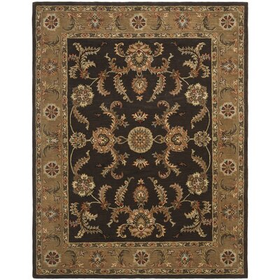 Meriden Brown/Gold Floral Area Rug Rug Size: 5 x 8