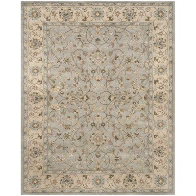 Meriden Beige/Grey Oriental Area Rug Rug Size: 2 x 3