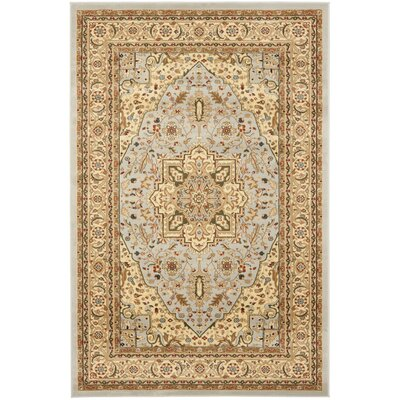 Mather Grey / Beige Rug Rug Size: Rectangle 6 x 9