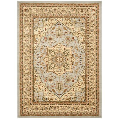 Richborough Gray/Beige Area Rug Rug Size: Rectangle 8 x 11