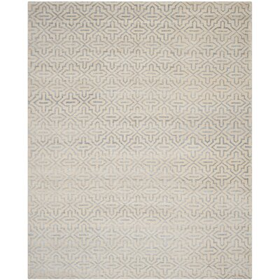 Mailus Silver Rug Rug Size: Rectangle 8 x 10