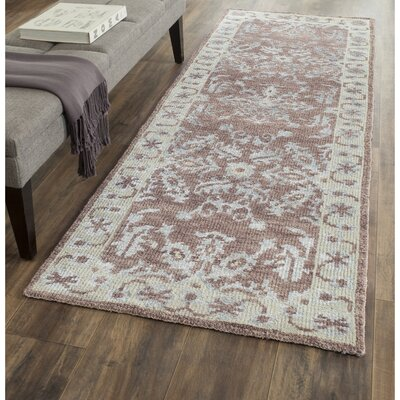 Mailus Charcoal Rug Rug Size: Runner 26 x 8