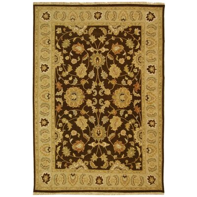 Linwood Brown/Gold Area Rug Rug Size: 4 x 6