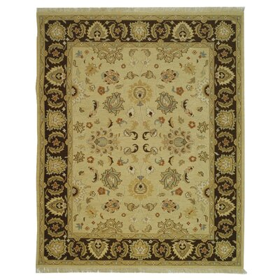 Linwood Ivory/Brown Area Rug Rug Size: 4 x 6
