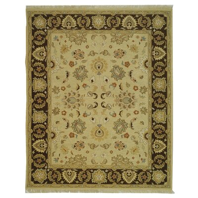 Linwood Ivory/Brown Area Rug Rug Size: 6 x 9