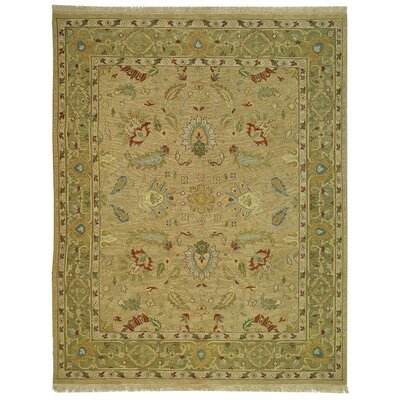 Linwood Taupe/Green Area Rug Rug Size: 6 x 9