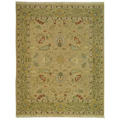 Linwood Taupe/Green Area Rug Rug Size: 9 x 12