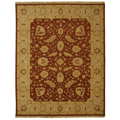 Linwood Red/Gold Area Rug Rug Size: Rectangle 4 x 6