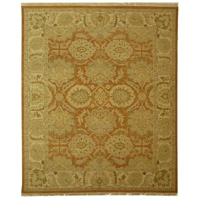Linwood Rust/Beige Area Rug Rug Size: Rectangle 9 x 12