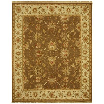 Linwood Brown/Ivory Area Rug Rug Size: 6 x 9