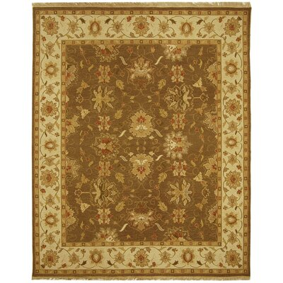 Linwood Brown/Ivory Area Rug Rug Size: 9 x 12