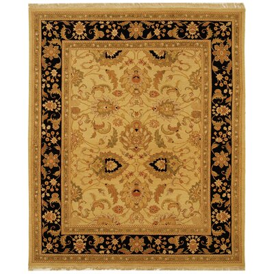 Linwood Gold/Black Area Rug Rug Size: 9 x 12