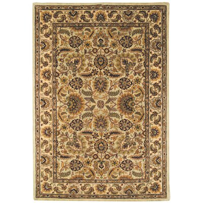 Pierce Light Green/Ivory Tabriz Area Rug