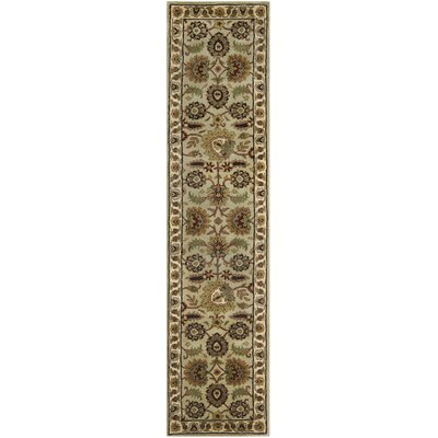Pierce Light Green/Ivory Tabriz Area Rug Rug Size: Runner 2'3 x 10'