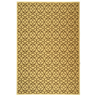 Newell Natural/Chocolate Outdoor Rug Rug Size: 67 x 96