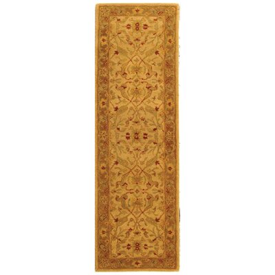 Parker Ivory/Brown Area Rug Rug Size: Runner 23 x 20