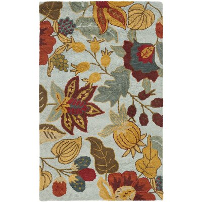 Payne Blue/Multi Area Rug Rug Size: Rectangle 89 x 12