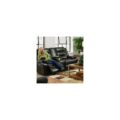 Simmons Upholstery Simmons Upholstry Charlottesville Power Double Motion Console Reclining Sofa