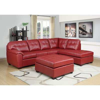 Caples Sectional Upholstery: Red