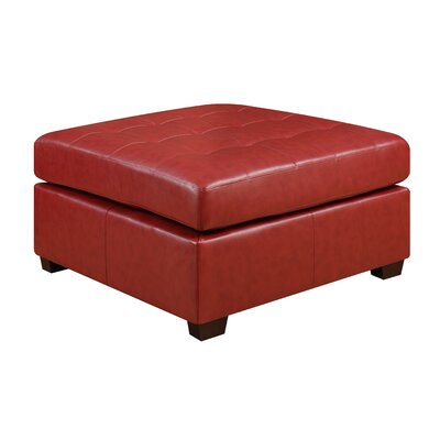 Caples Ottoman Upholstery: Red