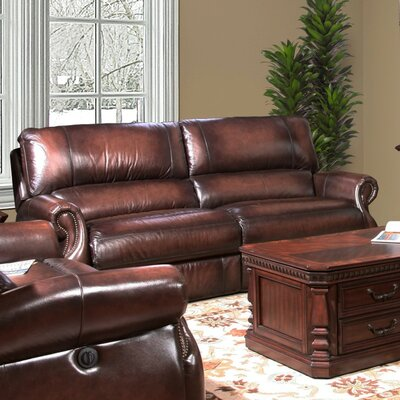 Darby Home Co DRBC6378 Hardcastle Hardcastle Leather Power Reclining Loveseat