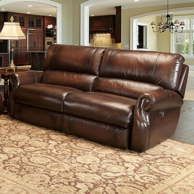 Darby Home Co DRBC6379 Hardcastle Leather Reclining Sofa