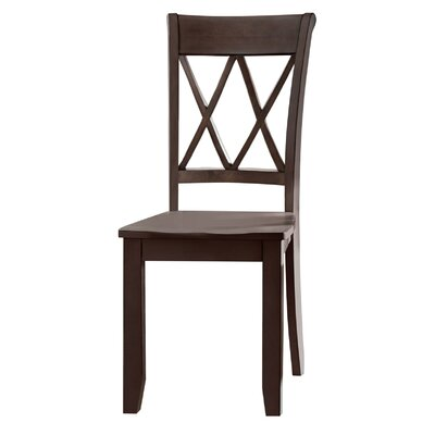 Dauberville Side Chair (Set of 2) Side Chair Finish: Brown