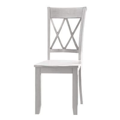 Dauberville Solid Wood Dining Chair (Set of 2) Side Chair Finish: Vanilla