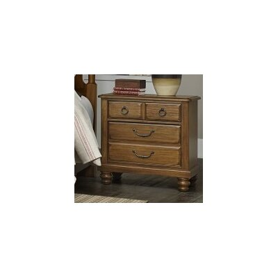 Hedlund 2 Drawer Nightstand