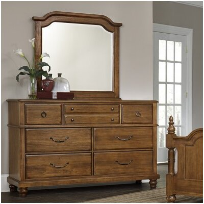 Hedlund 7 Drawer Dresser with Mirror